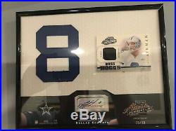 Troy Aikman 2002 Signing Bonus Auto Plaque 5/10 Cowboys