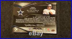 Troy Aikman 2009 Ud Black Quad Jersey Patch Autograph /25 Auto Upper Deck