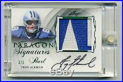 Troy Aikman 2017 Leaf Pearl Autograph Auto GU #2/2 Dallas Cowboys QB HOFer