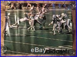 VINTAGE POSTER Adidas Miami Dolphins / Cowboys Super Bowl VI 1972 ORIGINAL RARE