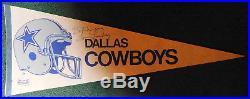 VINTAGE TOM LANDRY Dallas COWBOYS AUTOGRAPHED SIGNED FLAG PENNANT, NFL, FOOTBALL