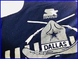 VTG Dallas Cowboys 80s Starter Sweatshirt Size Mens XL