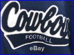 Vintage 70s 80s Dallas Cowboys NFL Jacket Delong Wool Super Bowl Champs NICE