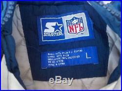 Vintage 90's Starter Dallas Cowboys Football NFL Men's Pullover Jacket Coat LG