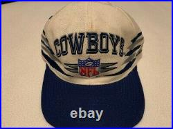 Vintage 90s Dallas Cowboys NFL Logo Athletic Diamond Pro Line Snapback Cap Hat