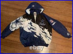 Vintage 90s Logo Athletic Pro Line Dallas Cowboys Splash Edition Jacket Mens XL