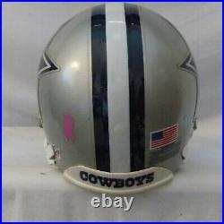 Vintage Dallas Cowboys Full Size, Riddell Vsr Custom Used Football Helmet