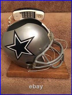 Vintage Dallas Cowboys Original Authentic Football Helmet Telephone