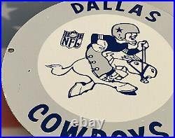 Vintage Dallas Cowboys Porcelain Stadium Sign NFL Football Texas Superbowl At&t