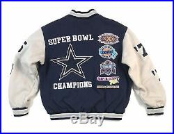Vintage Dallas Cowboys Super Bowl Jacket Medium M Bomber Varsity Letterman Mens