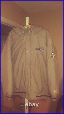 Vintage Dallas Cowboys Throwback Puffy Parka Starter Jacket XL! Rare