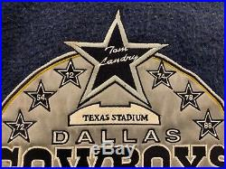 Vintage Dallas Cowboys Throwback Wool Leather Varsity Jacket Large SUPER RARE