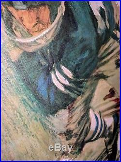 Vintage Dave Boss Painting 1965 NFL Dallas Cowboys