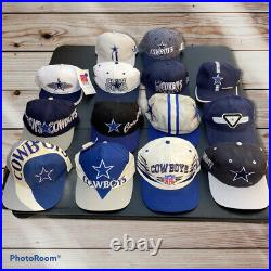 Vintage Hat Lot (14)90s Logo Athletic Sports Specialties Snapback Dallas Cowboys