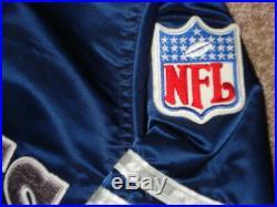 Vintage Navy Blue Dallas Cowboys Starter Satin Jacket XL SUPER RARE MINT