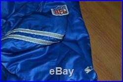 Vintage OG Dallas Cowboys Satin Starter NFL Proline Jacket XL Nice FIRE Blue