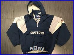 release date ffb74 3fa14 Vintage Starter Dallas Cowboys Mens NFL Jacket 90s Pullover ...