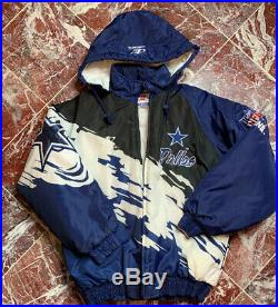 Vtg 90s LOGO ATHLETIC Pro Line DALLAS COWBOYS Splash Team Edition Jacket Men M