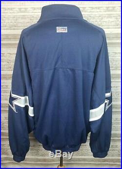 Vtg Dallas Cowboys Nike Proline Mens XXL Full Zip Track Jacket Embroidered -USA