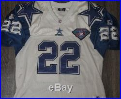 7de208333 Vtg Throwback Emmitt Smith Dallas Cowboys 1994 Starter 75th Anniversary  Jersey