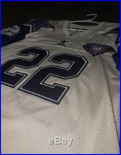 Vtg Throwback Emmitt Smith Dallas Cowboys 1994 Starter 75th Anniversary Jersey